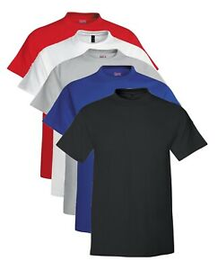 Hanes USA Beefy T TALL BLACK GREY RED BLUE or WHITE Extra Long Length Cotton