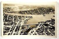 RPPC Seattle WA Birds Eye View Aurora Avenue Bridge To Lake Washington Postcard