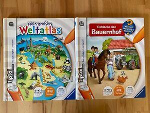 Ravensburger tiptoi® Bücher (2x) - Mein großer Weltatlas-Entdecke den Bauernhof