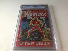 WARLOCK 2 CGC 8.0 WHITE PAGES NICE COPY NUCLEAR ATOMIC EXPLOSION MARVEL COMICS
