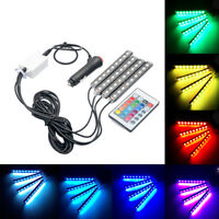 4 STRISCIA LED INTERNI AUTO SUV RGB Atmosfera Luce Decorativa Lampada al neon12V