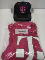 T-Mobile Logo Employee Tee T Shirt Pink Magenta Short Sleeve XL X-Large NEW