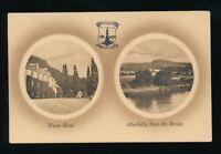 Scotland Perthshire ABERFELDY Weem Hotel c1910/30s bi-view PPC