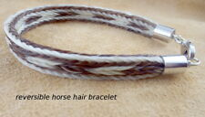 Elegant Authenitc Horse hair Bracelet Love this one  Hand-made Beauty Reversible