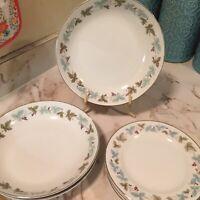 Vintage Fine China Japan Soup Bowls And Dessert Plates Lot Of Seven