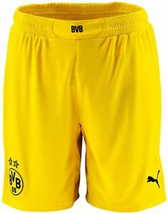 Puma Herren Shorts BVB Replica Fußballshorts Kurzehose, Gelb (gelb-Schwarz), S