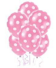 6 Polka Dots Balloons Pink birthday wedding hen party decorations girls night