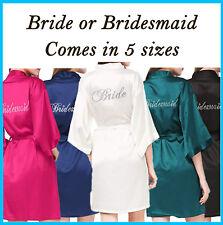 Wedding Bridal Party Bride and Bridesmaid Robes! Personalised w/ DIAMANTES