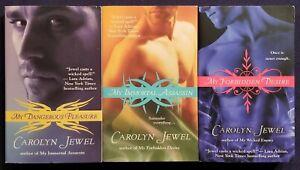 3 CAROLYN JEWEL Fiery PARANORMAL Romance Books MY IMMORTALS Series Books 2, 3, 4