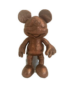 Cute Disney Mickey Mouse Bronze Kids Plush Stuffed Collector's Toy Small 10""