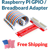 Raspberry Pi 2 3 GPIO Breakout Expansion Board Cable Breadboard Adapter T Shape