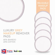 Luxury Grey Reusable Bamboo Cotton Makeup Remover Pads - Laundry Mesh Bag