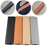 2pcs Car Seat Belt Strap Soft PU Leather Safety Shoulder Cushion Pads Covers