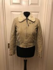 G-Star ladies beige faux fur lined winter jacket Size S