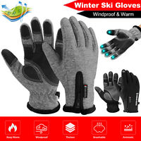 Sports Gloves Winter Thermal Warm Full Finger Cycling Driving Glove Touch Screen