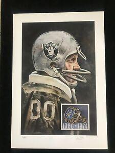 Jim OTTO signed Oakland Raiders JSA autographed Merv Corning Litho SUPER BOWL II
