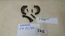 YAMAHA TY 50 TY 80 B TRIALS 1975 CLASSIC TWIN SHOCK FRONT BRAKE SHOES & ARM