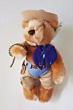 "AMERICAN TRAVEL COLLECTION RODEO COWBOY TEDDY BEAR w/ HAT 10"" HERRINGTON"