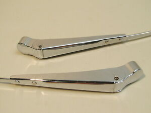NEW 1955-1956 FORD PASSENGER CAR CHROME WINDSHIELD WIPER ARMS
