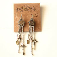 New Lucky Brand Charms Tassel Drop  Earrings Gift Vintage Women Party Jewelry FS