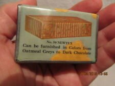 Vintage Match Safe Holder Advertises Brazil Clay Company IN Manufactures Bricks