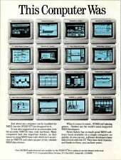 1989 VINTAGE 2PG PRINT AD FOR ATARI ST MIDI COMPUTER WAS MADE FOR MUSIC COLLAGE