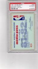 1981-82 Isiah Thomas Debut  PSA Ticket/Pass Detroit Pistons
