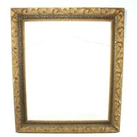 "Vintage Ornate Gold Gesso & Wooden Painting Print Picture Frame 16"" x 20"" Inner"