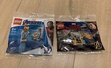LEGO MARVEL Avengers 30453 Captain Marvel & Nick Fury AND 30452 Iron Man Drum-E