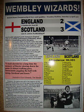 England 2 Scotland 3 - 1967 - souvenir print