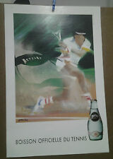 AFFICHE ANCIENNE TENNIS PERRIER SPAHN
