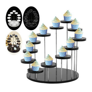 Small Round Acrylic Cake Display Stand Jewelry Dessert Rack Party Cupcake Stand