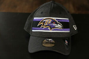 Baltimore Ravens Cap New Era 39THIRTY Hat Medium/Large Striped Front Hat