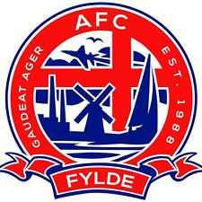 A.F.C. Fylde Football Club Vinyl DieCut Sticker Decal Fc Soccer 4 Stickers