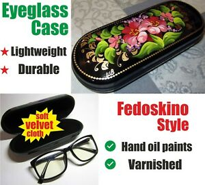 Hard Shell Eyeglass Case ❤️Fedoskino Style hand oil painting ❤️ Sunglasses Case
