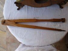 compas de charpentier en bois ancien long 50 cm objet de collection