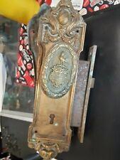 C. 1909 Antique Cast Brass Door Escutcheon/Door Knob from the Blackstone Hotel.