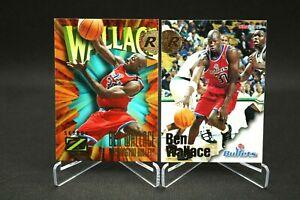 2x Lot 1996-97 Skybox Z-Force Ben Wallace #165   NBA Hoops #314   HOF FearTheFro