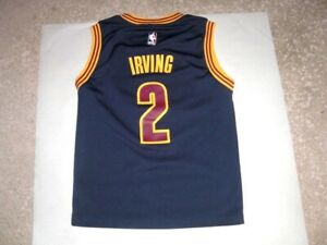 Adidas Cleveland Cavaliers KYRIE IRVING blue basketball Jersey youth Small