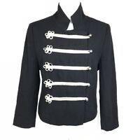 AKA New York -Size L- Women's Black 100% Cotton Admiral Fitted Jacket MSRP $325