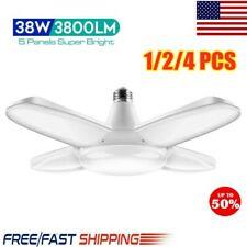 LED Garage Light E27 Bulb Deformable Ceiling Fixture Lights Shop Workshop Lamp@