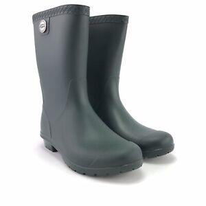 UGG Womens Sienna Matte Waterproof Olive Green Rain Boots 1100510 Size 6 M