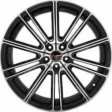 4 GWG Wheels 18 inch Black Machined FLOW Rims fits NISSAN 370Z NIZMO 2009 - 2018