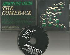 SHOUT OUT LOUDS The Comeback  PROMO Radio DJ CD single PRINTED LYRICS 2005 USA
