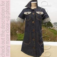 CHLOE Indigo Blue Denim Cotton Dress!F34/XS-S