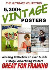 Vintage Pictures Posters Prints DVD Advertising 5300 inc High res best Available