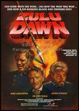 ZULU DAWN__Original 1987 Print AD / movie promo__BURT LANCASTER__PETER O'TOOLE