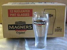 NEW 12 MAGNERS CIDER JOBLOT PUB HOME BAR BBQ PARTY DRINK PINT GLASSES UNUSED BOX