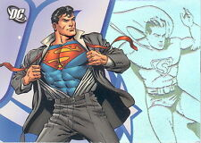 DC LEGACY 2007 RITTENHOUSE PROMO TRADING CARD P1 SUPERMAN