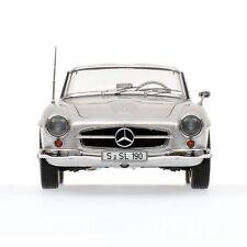 MINICHAMPS 1955 MERCEDES 190SL (W121) CABRIOLET SILVER COLOR 1:18**New Release**